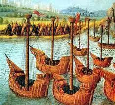 schilderij driemaster op zee